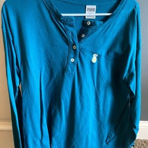 Pink (dark blue-green) long sleeve t-shirt